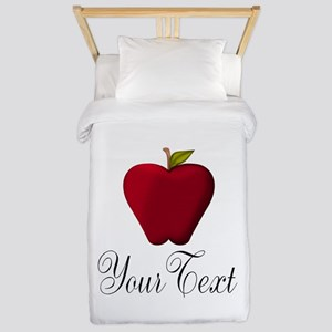 Personalizable Red Apple Twin Duvet