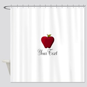 Personalizable Red Apple Shower Curtain