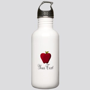 Personalizable Red Apple Water Bottle