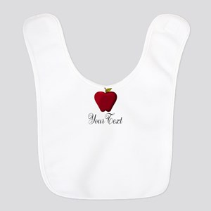Personalizable Red Apple Polyester Baby Bib