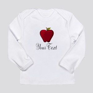Personalizable Red Apple Long Sleeve T-Shirt
