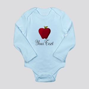 Personalizable Red Apple Body Suit