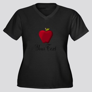 Personalizable Red Apple Plus Size T-Shirt