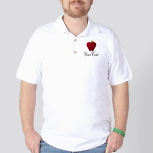 Personalizable Red Apple Golf Shirt