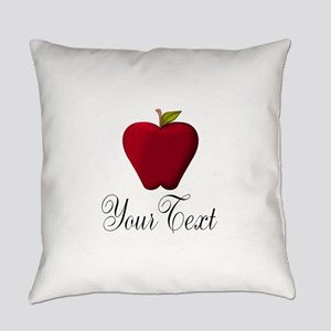 Personalizable Red Apple Everyday Pillow