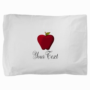 Personalizable Red Apple Pillow Sham