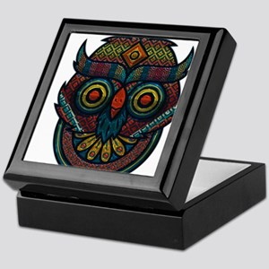 Technicolor Owl Keepsake Box