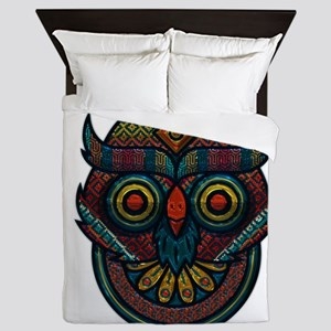 Technicolor Owl Queen Duvet