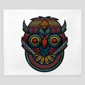 Technicolor Owl King Duvet