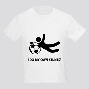 Funny Soccer Stunts Kids Light T-Shirt