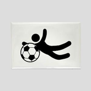 Funny Soccer Stunts Rectangle Magnet