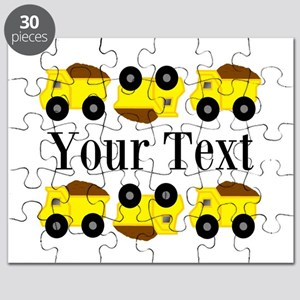 Personalizable Yellow Trucks Puzzle
