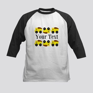 Personalizable Yellow Trucks Baseball Jersey