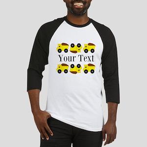 Personalizable Yellow Trucks Baseball Jersey