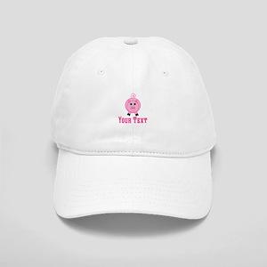 Personalizable Pink Pig Baseball Cap