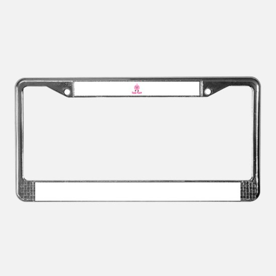 Personalizable Pink Pig License Plate Frame