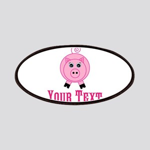 Personalizable Pink Pig Patch