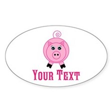 Personalizable Pink Pig Sticker