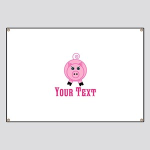 Personalizable Pink Pig Banner