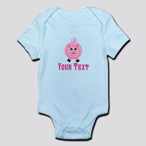 Personalizable Pink Pig Body Suit