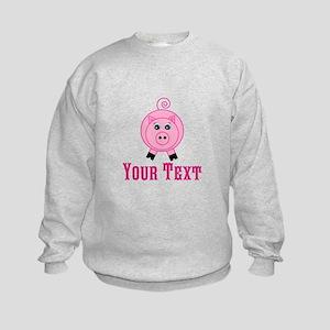 Personalizable Pink Pig Sweatshirt