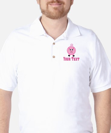 Personalizable Pink Pig Golf Shirt