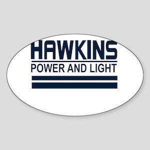 Hawkins Power and Light Sticker (Oval)