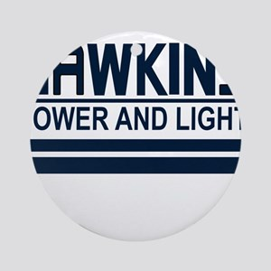 Hawkins Power and Light Round Ornament
