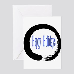 Zen Circle Happy Holidays Greeting Cards