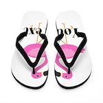 Personalizable Pink Flamingos Flip Flops