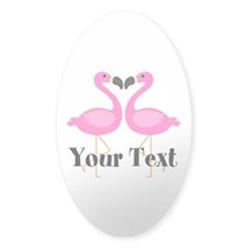 Personalizable Pink Flamingos Sticker