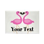 Personalizable Pink Flamingos Magnets
