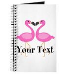 Personalizable Pink Flamingos Journal