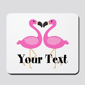 Personalizable Pink Flamingos Mousepad