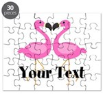 Personalizable Pink Flamingos Puzzle