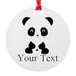 Personalizable Panda Bear Ornament