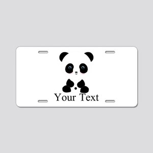 Personalizable Panda Bear Aluminum License Plate