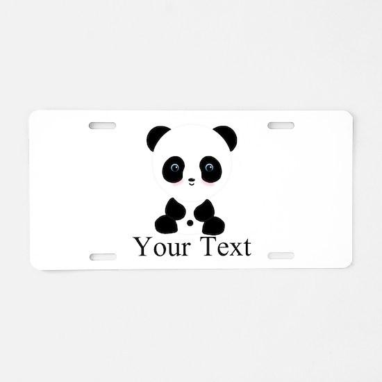 Personalizable Panda Bear Aluminum License Plate
