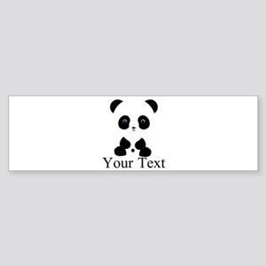 Personalizable Panda Bear Bumper Sticker