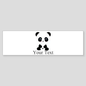 Personalizable Panda Bear Bumper Sticker