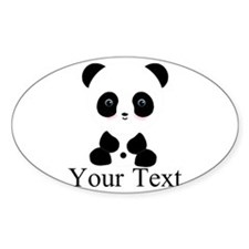 Personalizable Panda Bear Sticker