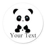 Personalizable Panda Bear Round Car Magnet