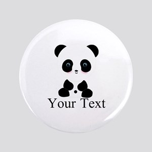 Personalizable Panda Bear Button