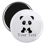 Personalizable Panda Bear Magnets