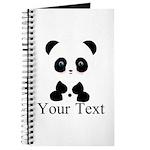 Personalizable Panda Bear Journal