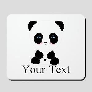 Personalizable Panda Bear Mousepad