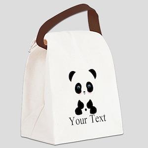 Personalizable Panda Bear Canvas Lunch Bag