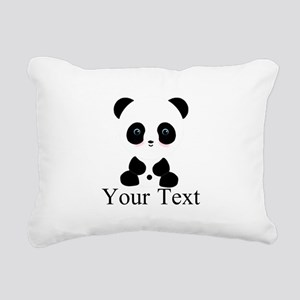 Personalizable Panda Bear Rectangular Canvas Pillo