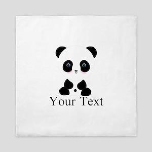 Personalizable Panda Bear Queen Duvet
