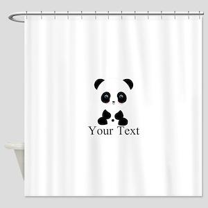 Personalizable Panda Bear Shower Curtain